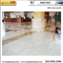 Milk White Marble Flooring Tile