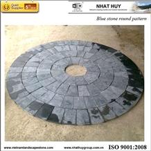 Vietnam Blue Stone Round Pattern