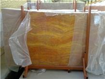 Orange Travertine Slabs, Floor Tiles, Wall Tiles