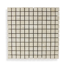 Tumbled Travertine Mosaic T111
