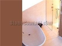 Limestone bath tub