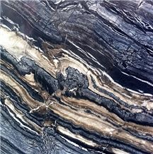 Silver Brown Wave Marble Multicolor Marble