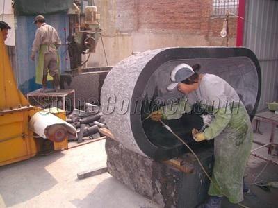 Polishing stone tub