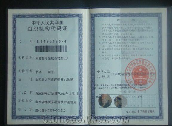 Organization Registration Certificate