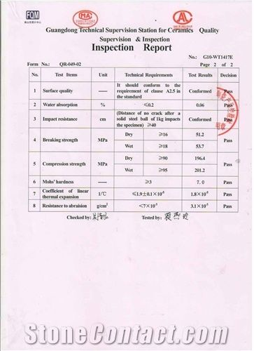 Quality inspection report 3