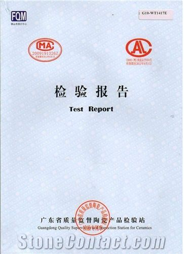 Quality inspection report