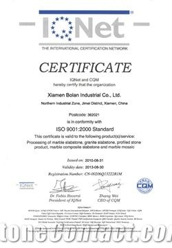 Certificate of ISO9001-2000 Standard