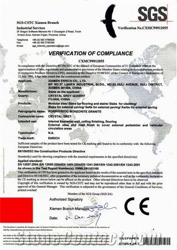 G603-CE Certificate