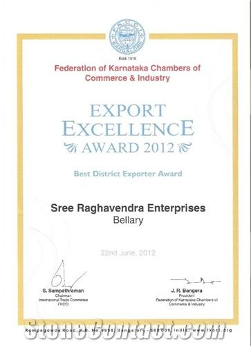 Export Excellence Award for the Year 2012