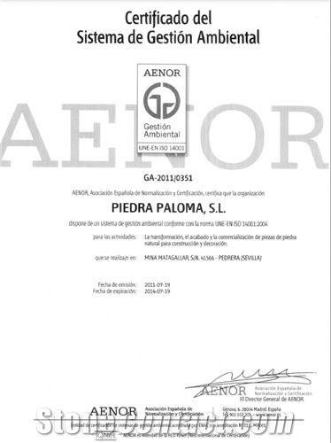 Certificado Aenor 14001 de gestión ambiental