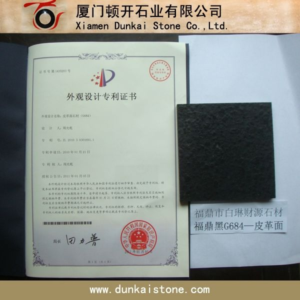 G684 Basalt Leather Finish Patent