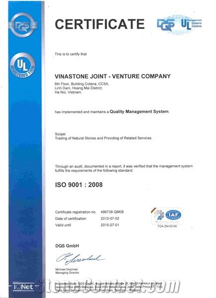 ISO Certificate 9001 - 2008