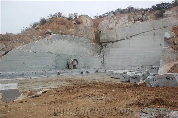 New G640 Granite Quarry, Chinese Snow White Granite, Fujian