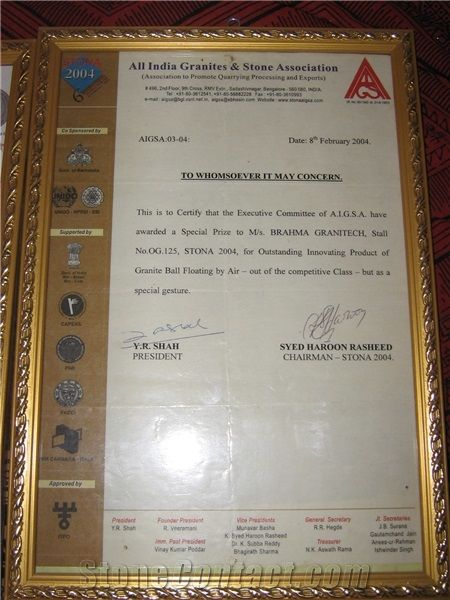 AWARD All india granite & stone Assocasion