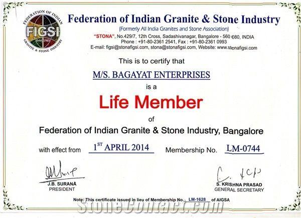 Life Membership Certificate