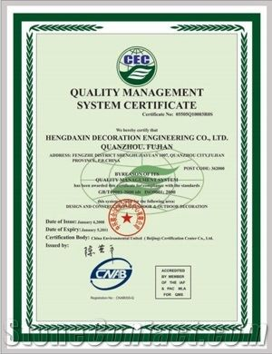 QUALITY MANAGEMENT SYSTEM CERTIFICATE GB/T14001