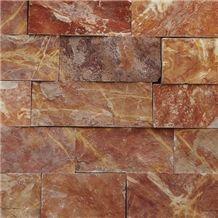 Cintilla Rojo Tlayua - Piedra Rojo Tlayua Wall Tiles, Red Slate Walling Tiles