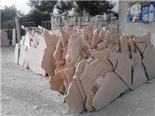 Piedra Canela Sandstone Irregular Format Flagstone, Pink Sandstone Flagstone Mexico