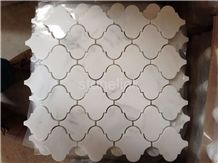 Eastern White Marble Arabesque Mosaic