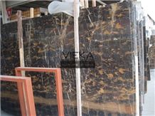 Portoro Extra Marble,Black Golden Flower Marble, Black Portoro,Nero Portoro Marble,Persian Portoro Marble Tile Slab Nature Stone Polished