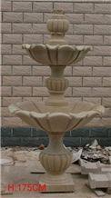 Fargo China Beige Sandstone Garden Fountains, Beige Sandstone Sculptures Exterior Fountains