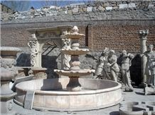 Fargo Red Marble Garden Fountains, Marble Water Feature Fountains, Exterior Sculptured Fountains