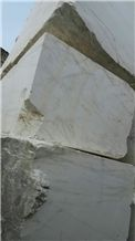 White Marble Block , China White Marble, White with Grey Viens, White Marble Block.