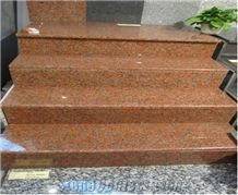 Hot Sale Maple Red Granite Stairs,Maple Red Granite Steps for Sale,G562 Maple Red Granite Stairs