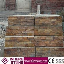 Building Stone Slate Wall Decoration, Brown Slate Cultured Stone