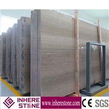 Grey Wood Vein Marble Slabs,China Grey Wood Grain Marble Stone