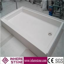White Marble Shower Pan, Pan Suitable for Bathroom
