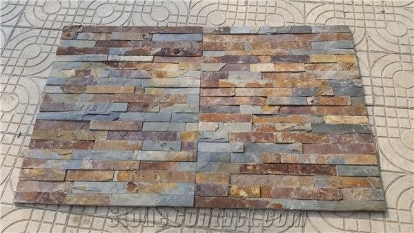 Natural Ledge Stone Panel China Multicolor Slate Ledge