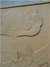 Yellow Sandstone Relief & Etching