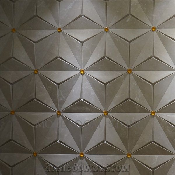 Chinese Factory 3d Wall Panels, Cappucino Beige Marble ...