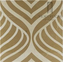 Fashion Design Home Decoration Square Carpet Composited Marble Price
