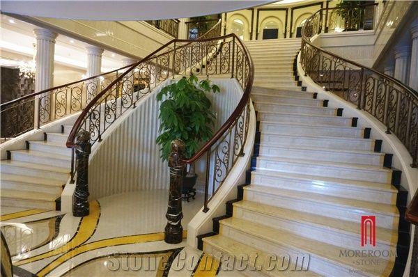 Home U003eu003e Stairs Steps U003eu003e Moreroom Stone Morden Design Grey Marble Stair  Grill Design