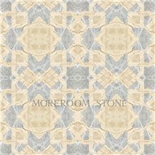 Polished Greece Marble Tiles Grey Venus Marble Waterjet Medallions Floor Medallions Carpet Medallions Ceramic Backed Medallion Turkish Beige Marble Flooring Design