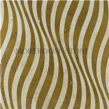Spain Amarillo Oro Marble & Crema Marfile Marble Pattern Medallion Tiles