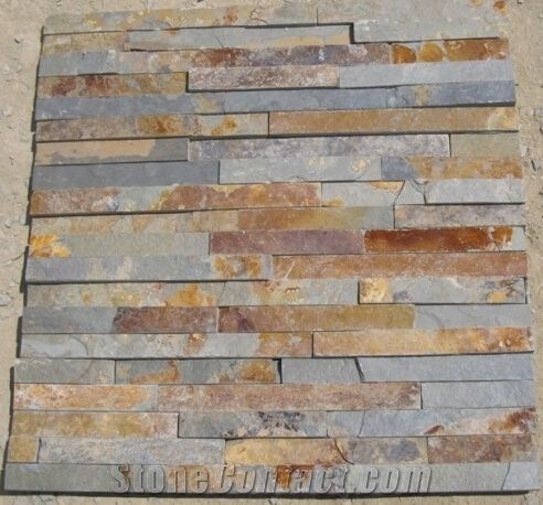 Natural Rustic Slate Cultured Stone Exterior Wall Tile