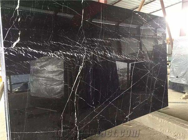 China Black Marble Slab Tiles Luxury Marble Designs