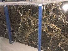 Emperadoe Gold Marble Polished Tiles & Slabs, Brown Marble Flooring Tiles