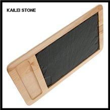 Xingzi Black Slate Home Basics Food Safe Contact Slate Trays, 19.5
