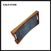 Xingzi Kailei Stone Factory Bamboo & Slate Trays, Jiangxi Black Slate Trays