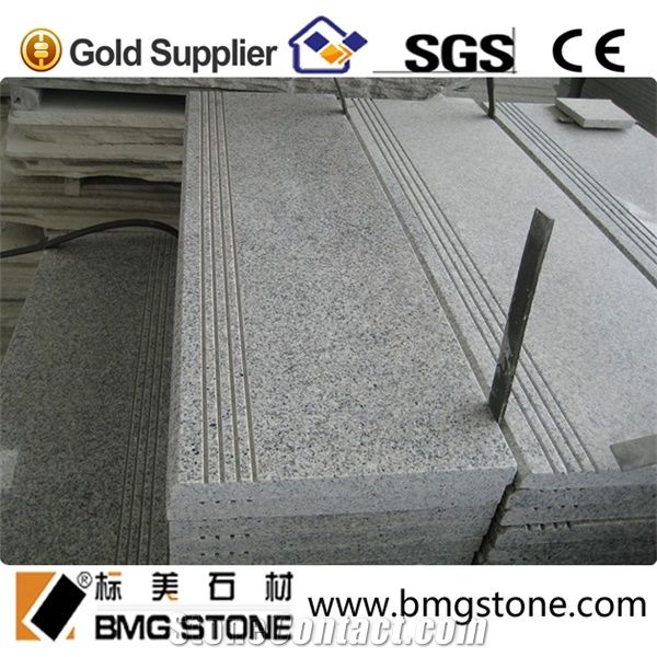 G603 Granite Stairs Steps With Anti Slip Grooves From China