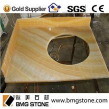 Yellow Honey Marble Vanity Tops Countertops