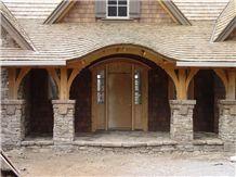 Humboldt Sandstone Drystack Masonry, Grey Sandstone Building Stone