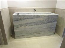 Custom, Hand-Built Integrated Stone Sink