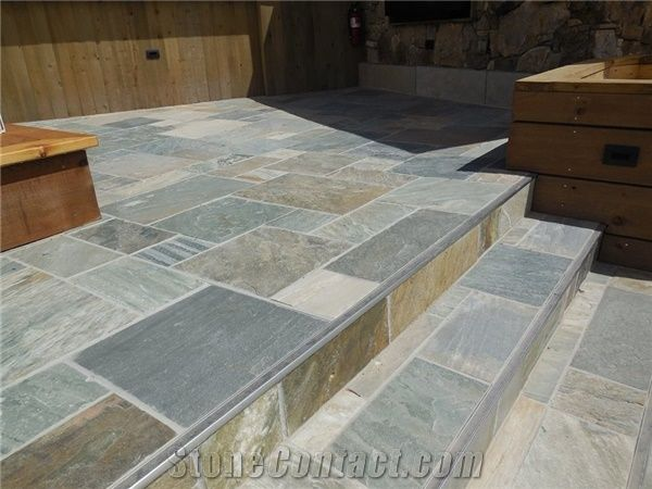 Exterior Deck Slate Tile Install From United States