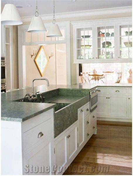 Costa Smeralda Granite Kitchen With Farm Sink