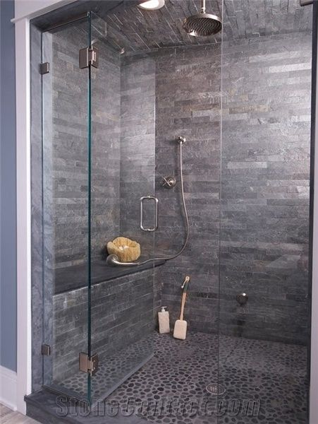 Silver Slate Tiles Walls And